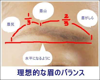 眉のバランス コスメ1